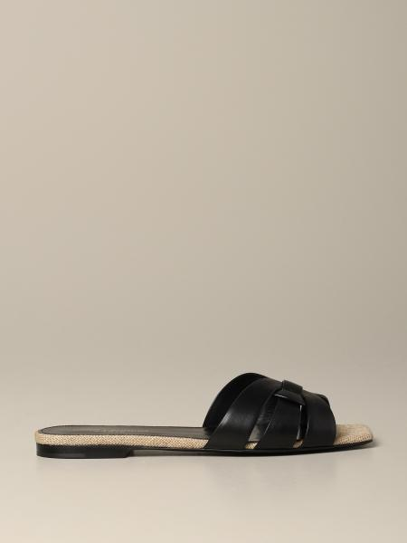 Tribute Saint Laurent flat leather sandal