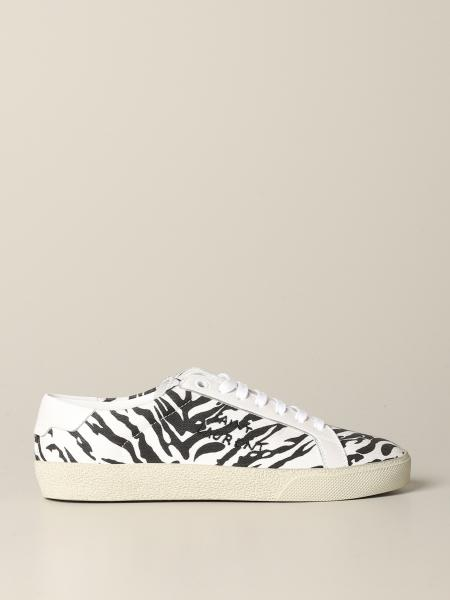 Saint Laurent Sneakers aus Canvas mit Zebra Print