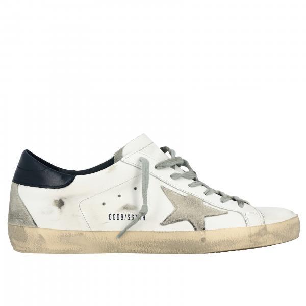 Golden Goose Superstar Sneakers mit Stern aus Leder