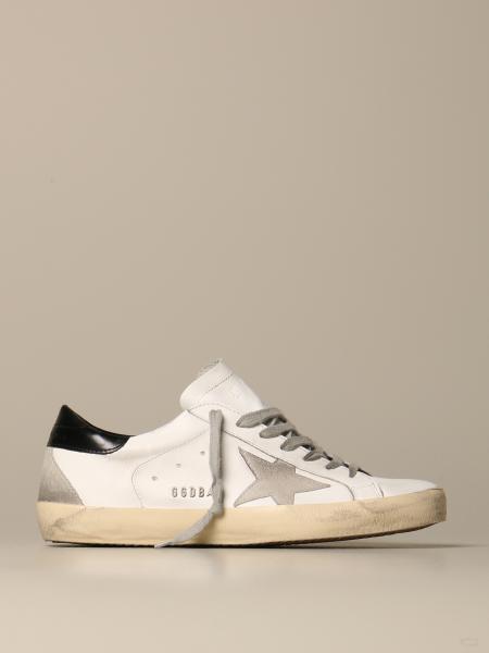 Sneakers Superstar Golden Goose en cuir et daim