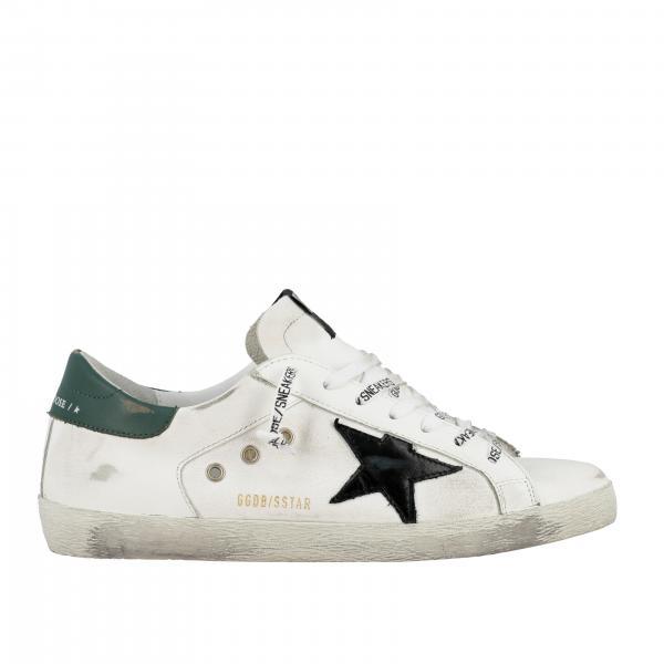 Sneakers Superstar Golden Goose en cuir usé
