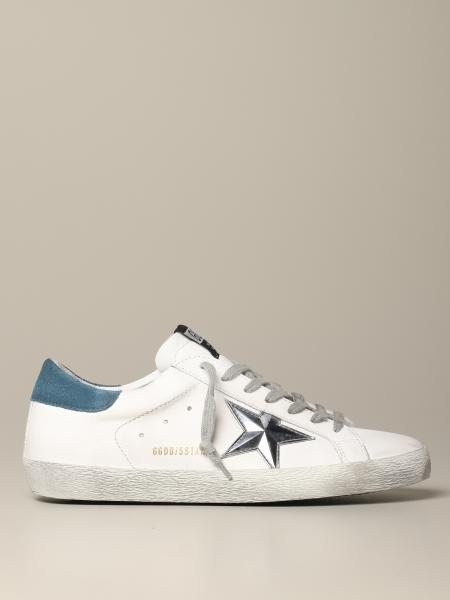 Sneakers Superstar Golden Goose in pelle con stella in 3D