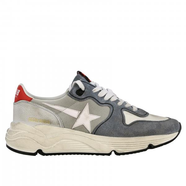 Baskets Running Golden Goose en daim toile et cuir
