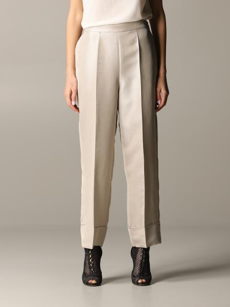 Emporio Armani trousers in lurex gabardine