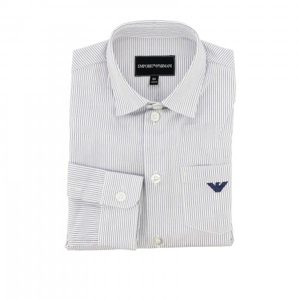 Emporio Armani striped shirt with patch pocket