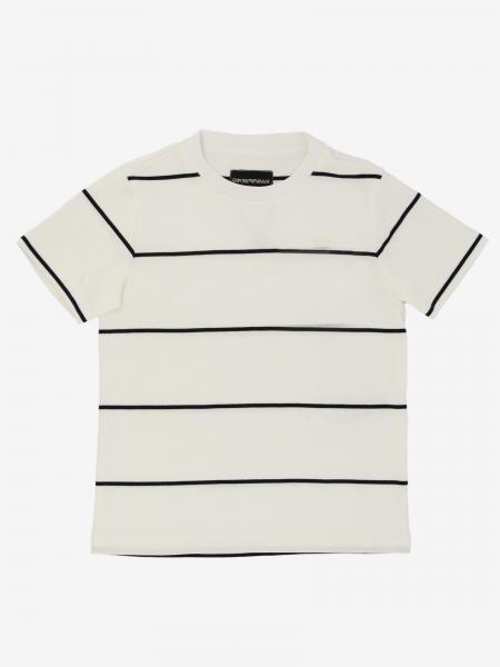 T-shirt Emporio Armani rayé avec logo