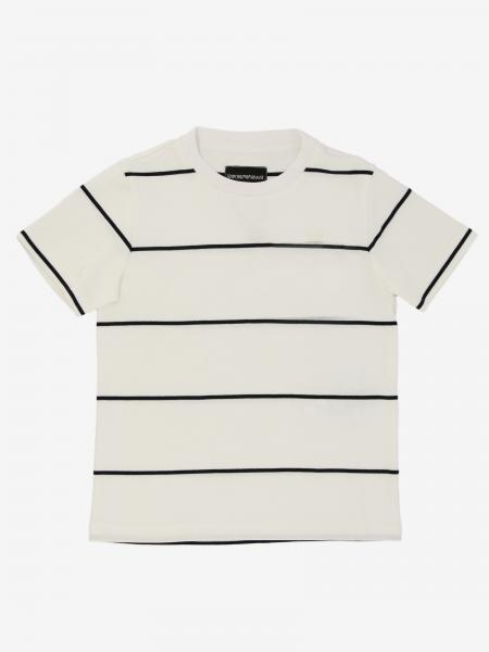 Emporio Armani logo 条纹T恤
