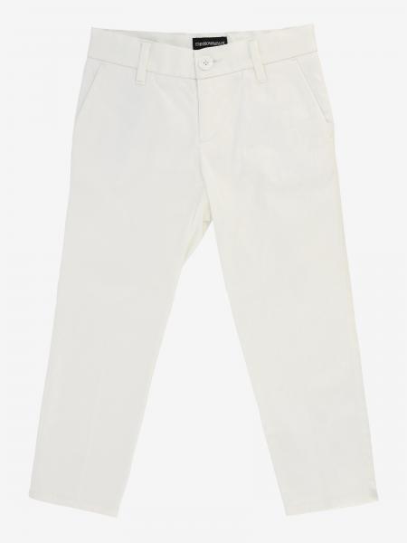 Emporio Armani 弹性棉缎面裤子