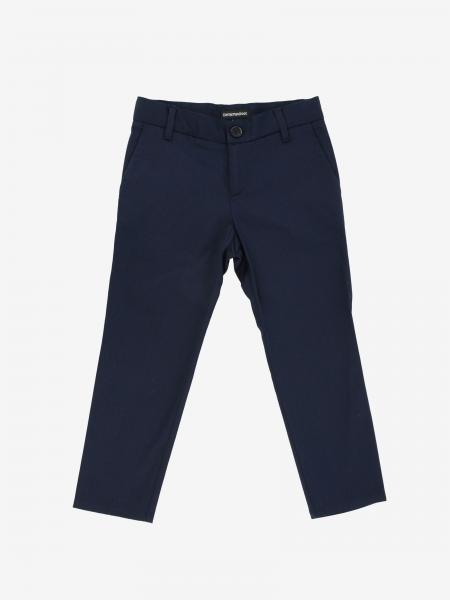 Emporio Armani trousers in stretch cotton satin