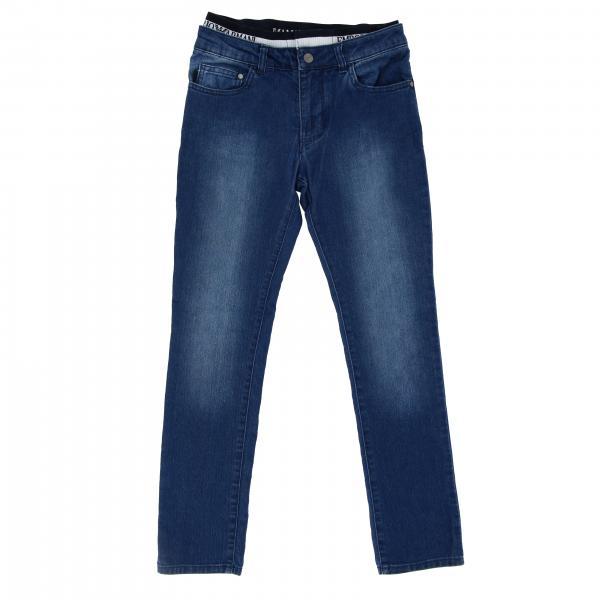 Jeans Emporio Armani en denim usé avec bande logo