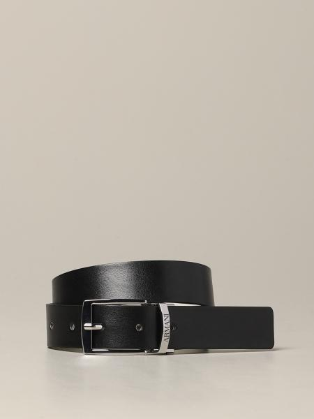 Classic Emporio Armani belt in reversible leather