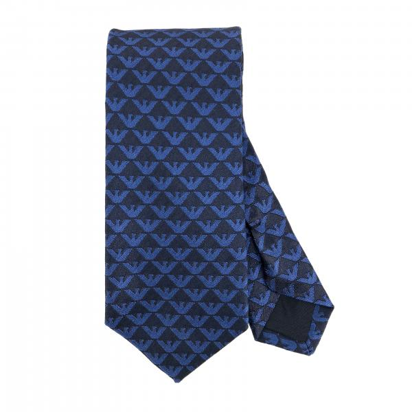 Emporio Armani silk tie with all over logo