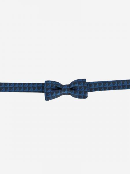 Emporio Armani bow tie in silk with all over logo