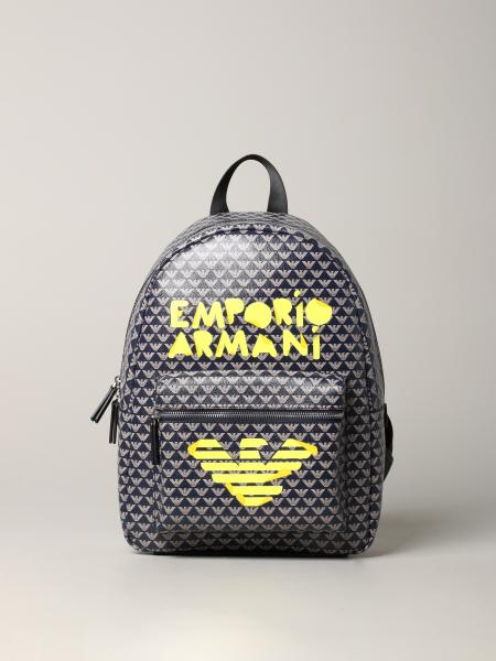 Emporio Armani backpack with all over logo