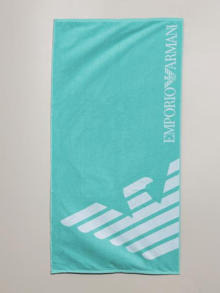 Emporio Armani beach towel with logo