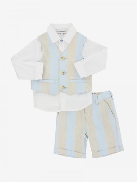 Ensemble gilet + chemise + bermuda Emporio Armani