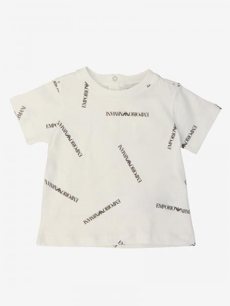 T-shirt Emporio Armani a maniche corte con logo all over