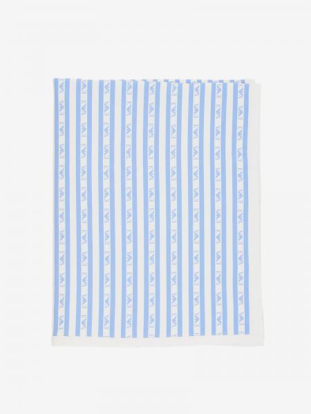 Emporio Armani logo 条纹印花毯子