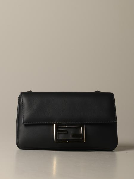 Mini bag fendi duo baguette bag in leather Fendi - Giglio.com