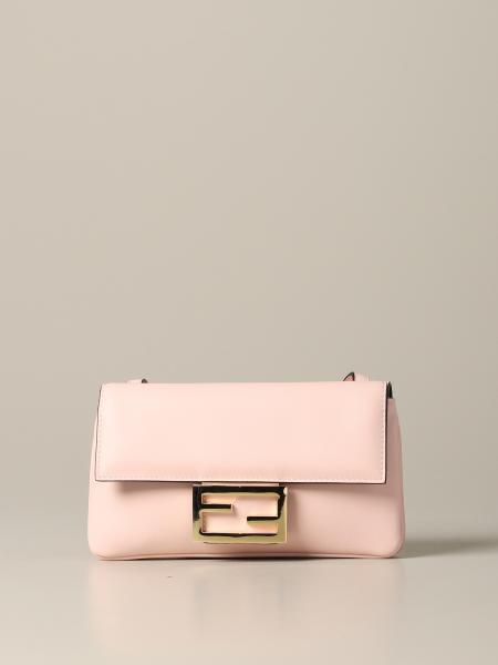 Fendi Duo Baguette Tasche aus Leder