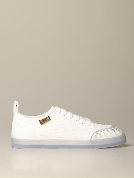 Fendi canvas sneakers with all-over FF logo