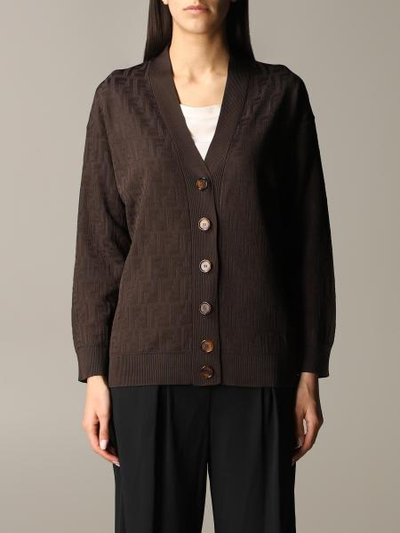 Fendi cotton cardigan with all-over FF logo