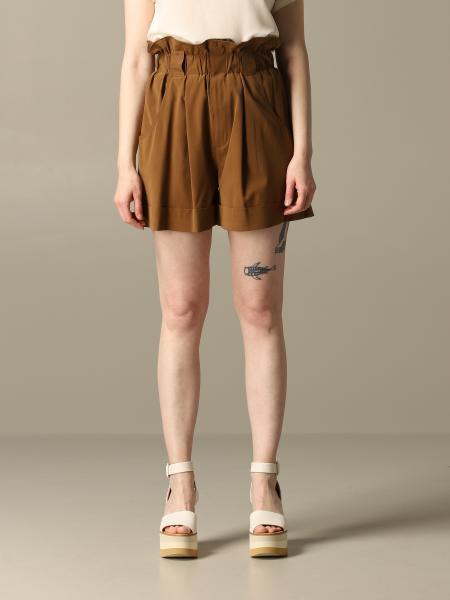 Fendi high-waisted shorts in washed silk