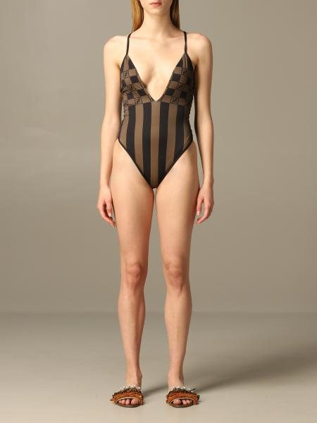 Fendi one-piece swimsuit with FF monogram all over