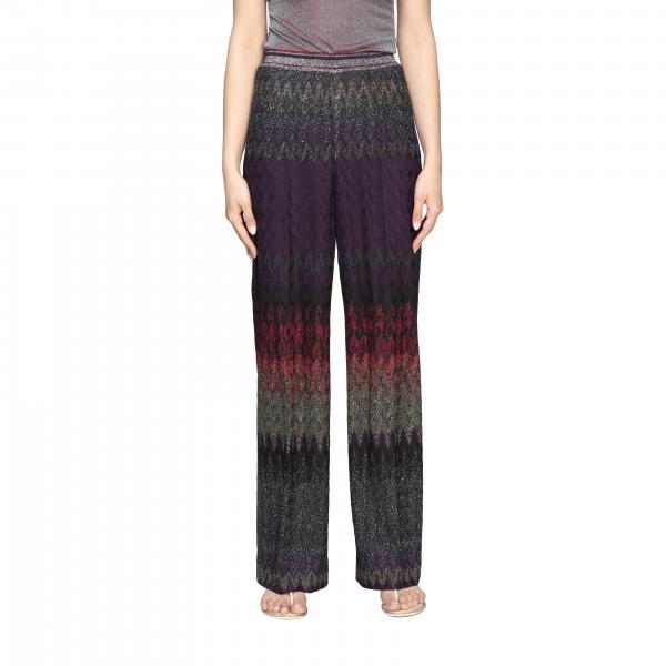 Pantalone Missoni in maglia jacquard lurex