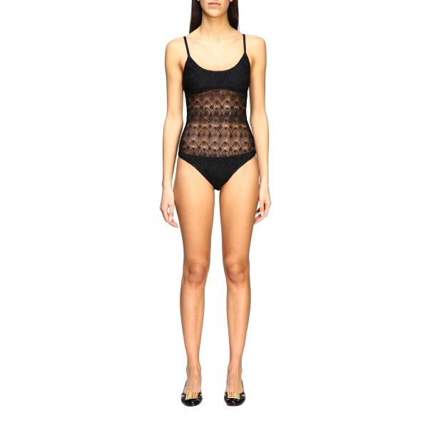 Missoni Mare one-piece swimsuit with fancy knit