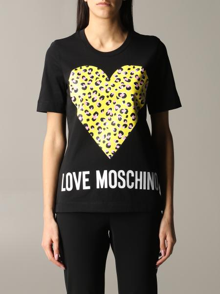 Love Moschino crew neck t-shirt with animal heart print