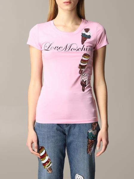 Love Moschino t-shirt with ice cream and sequins print