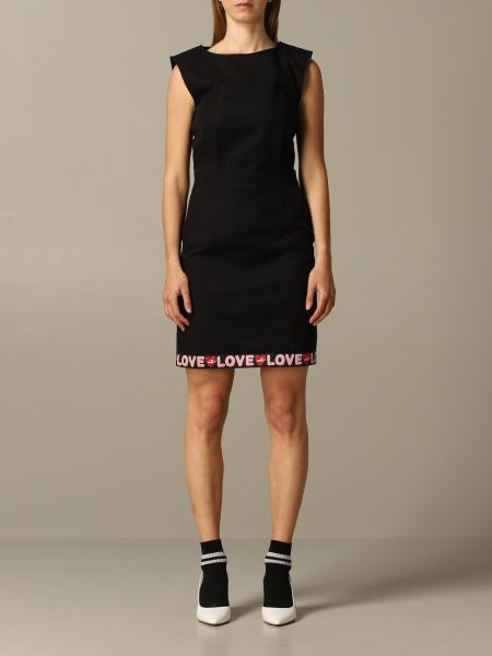 Robe fourreau Love Moschino avec bande logo
