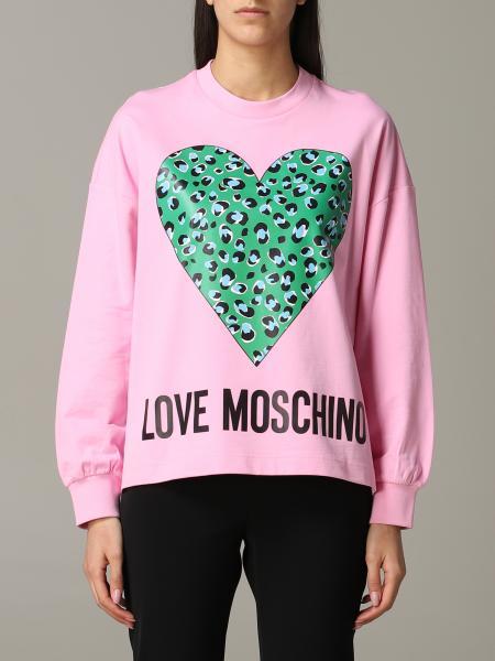 Felpa Love Moschino con logo e cuore