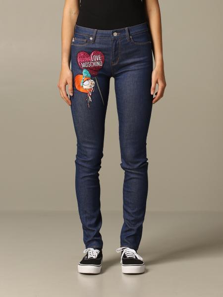 牛仔裤 女士 Love Moschino