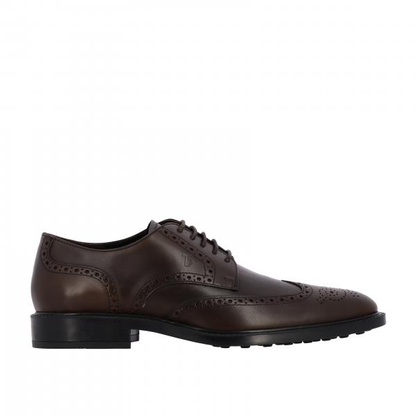 Derby Tod's en cuir avec motif brogue en queue d'hirondelle