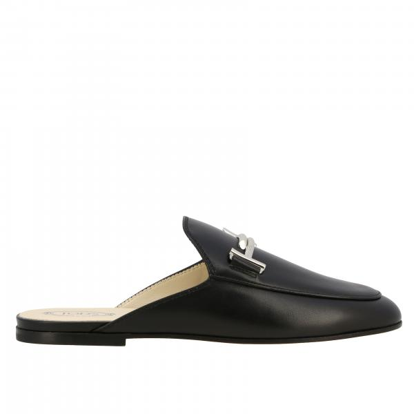 Sabot Tod's in pelle liscia con double T