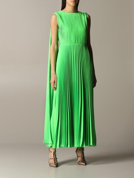 Valentino long and pleated dress