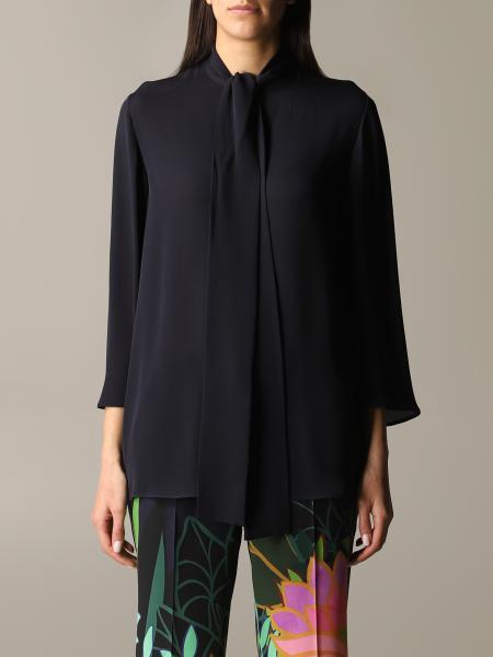 Valentino 丝巾领子装饰真丝衬衫