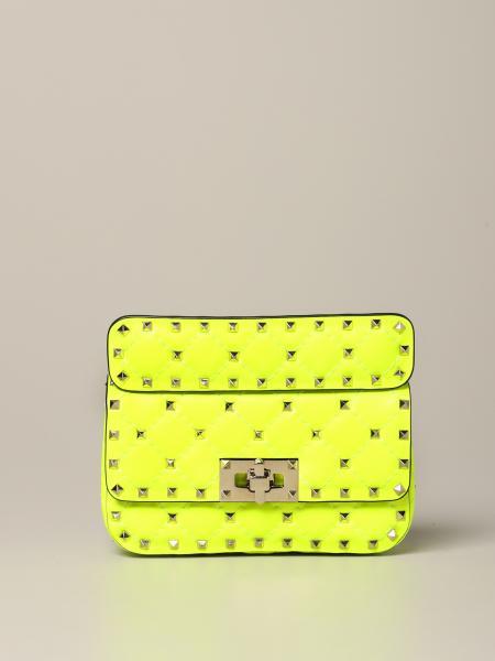 Valentino Garavani Rockstuds Spikes bag in fluorescent leather