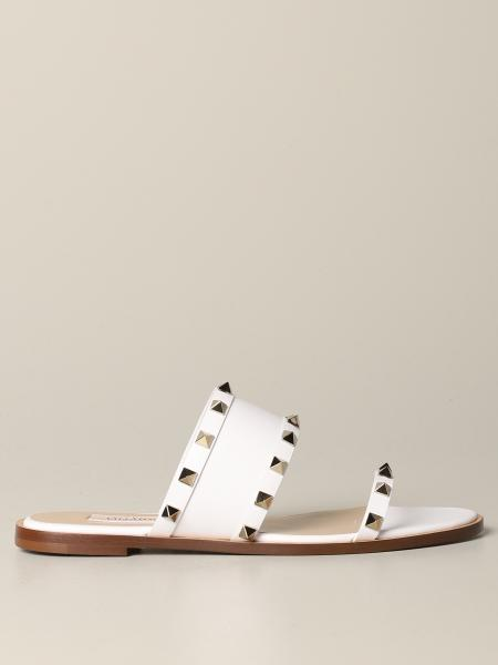 Valentino Garavani Rockstud sandal in leather with studs