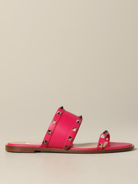 Valentino Garavani: Valentino Garavani Rockstud sandal in leather with studs