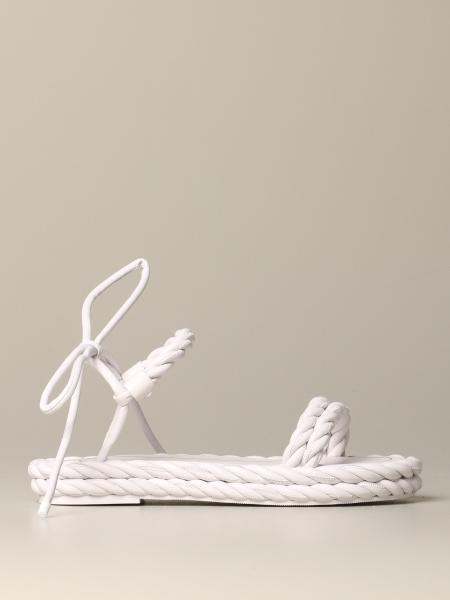 The Valentino Garavani rop sandal in woven leather