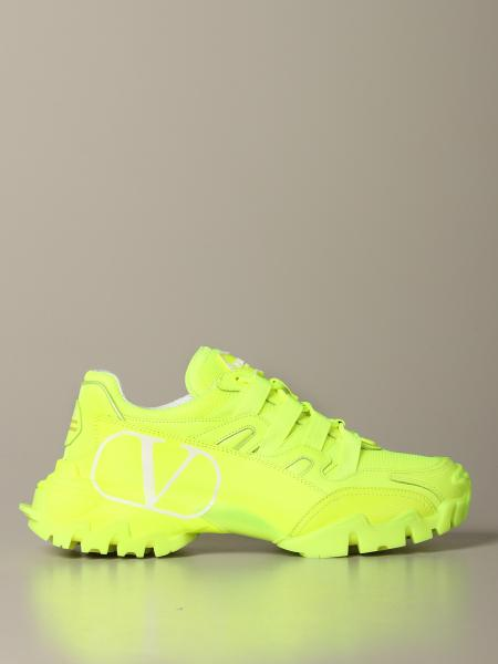 Valentino Garavani Climbers sneakers in leather and fluorescent mesh with VLogo