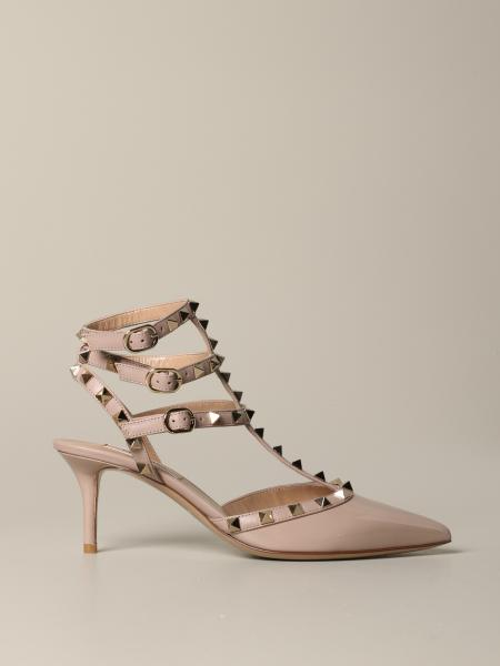 Valentino Garavani Rockstud pumps in leather and patent leather