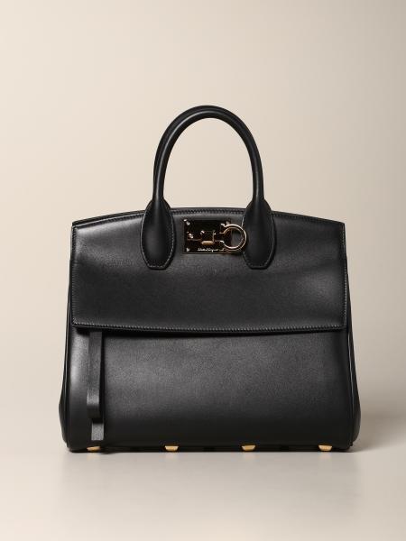 Small Salvatore Ferragamo leather bag with Mediterranean hook