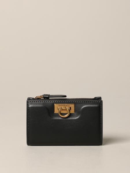 Salvatore Ferragamo Square leather wallet with chain