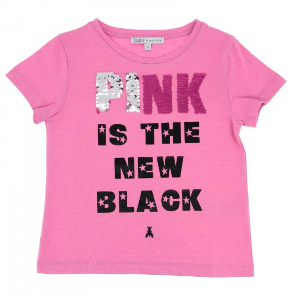 T-shirt Patrizia Pepe a maniche corte con scritta Pink is the new black