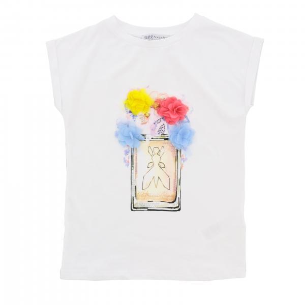 T-shirt Patrizia Pepe con stampa profumo e logo