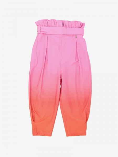 Patrizia Pepe trousers in cotton with ruffles and belt